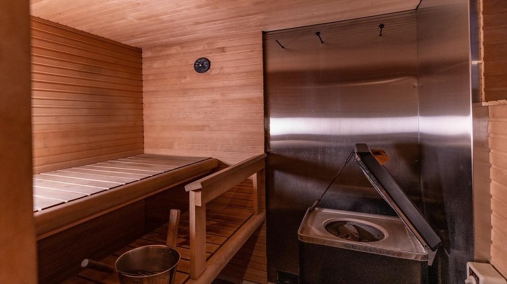 sauna at arctic heart