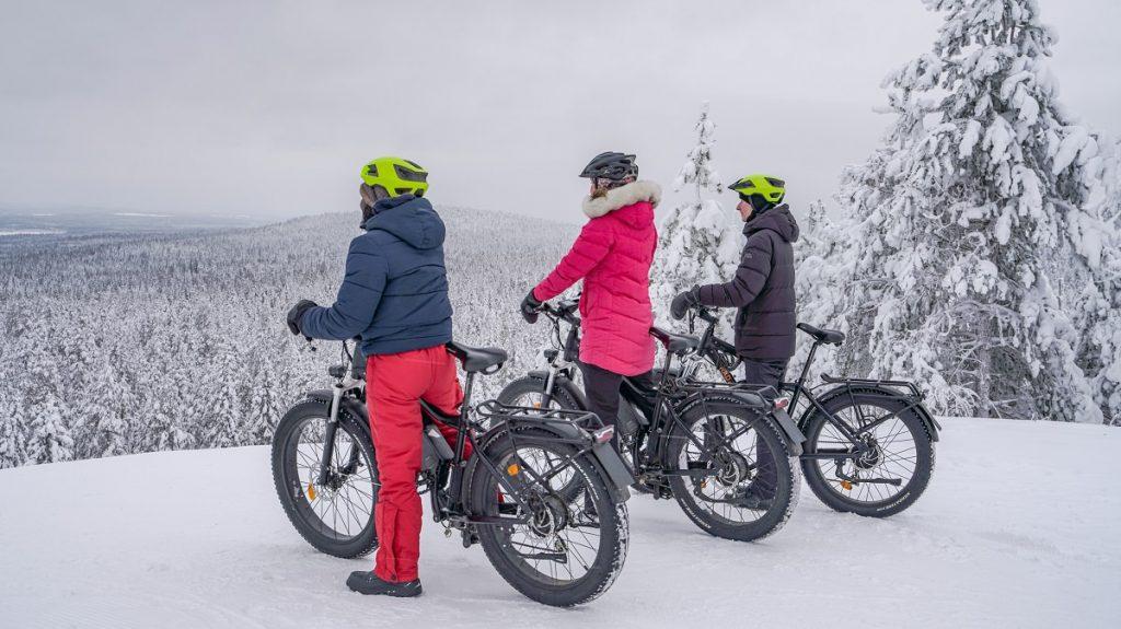 Fat biking in Rovaniemi, Ounasvaara